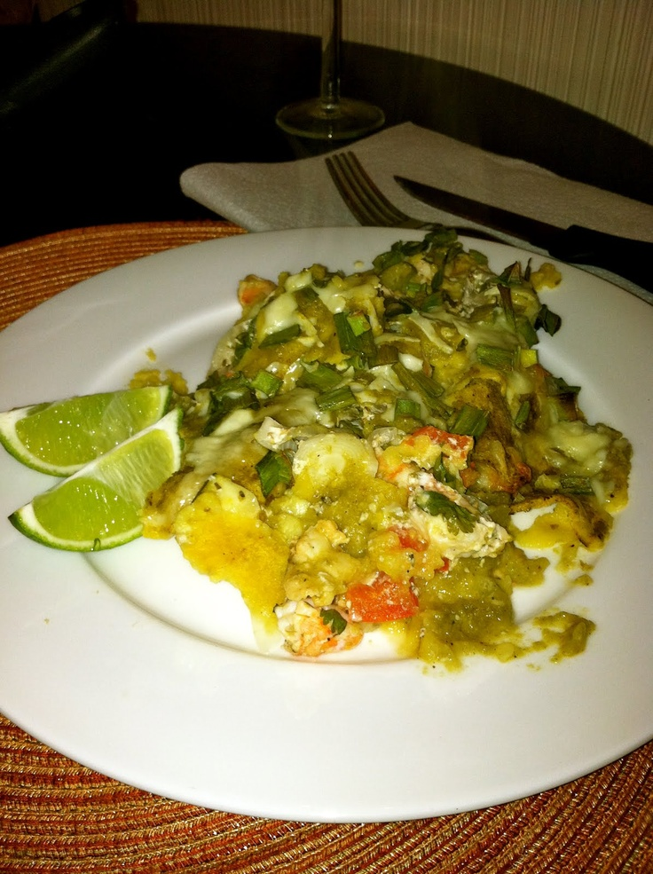Healthy Shrimp Enchiladas Verde