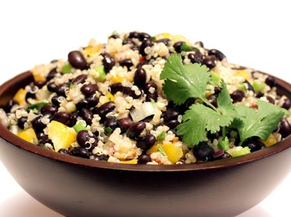 ... often. I added some lime juice at the end. quinoa and black beans