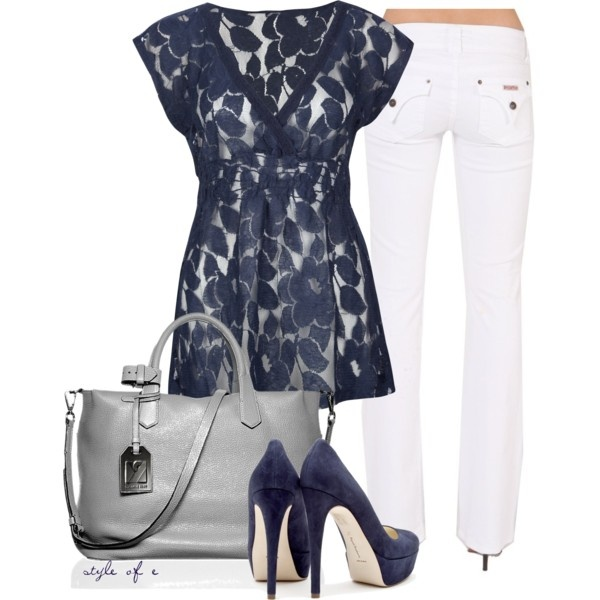 """Blue Suede Shoes"" by styleofe on Polyvore"