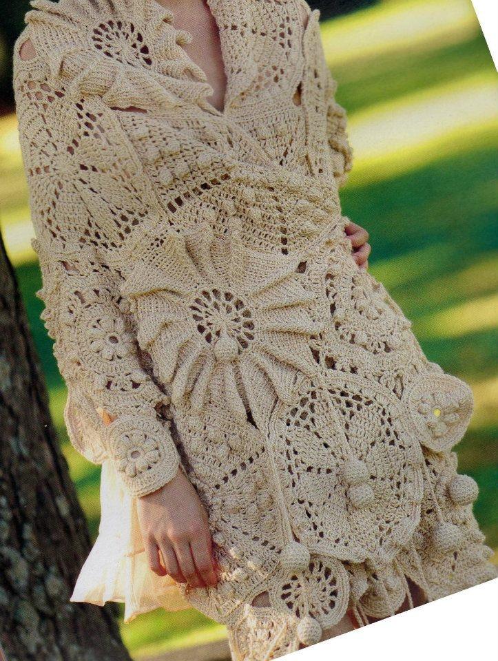 crochet jacket CROCHET.freeform Pinterest