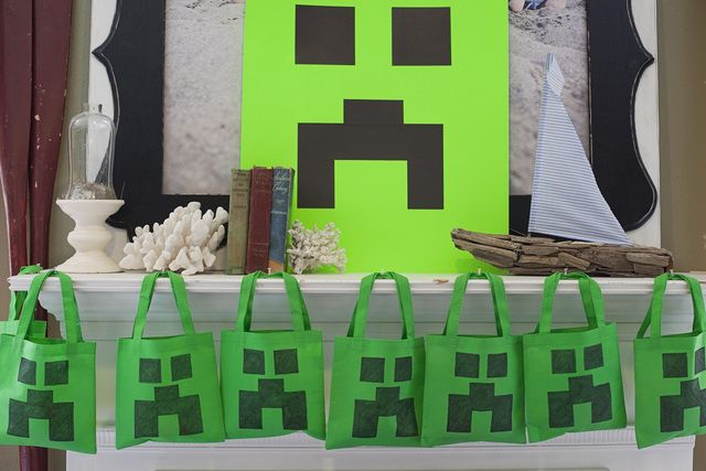 Favors at a Minecraft Party #minecraft #partyfavors