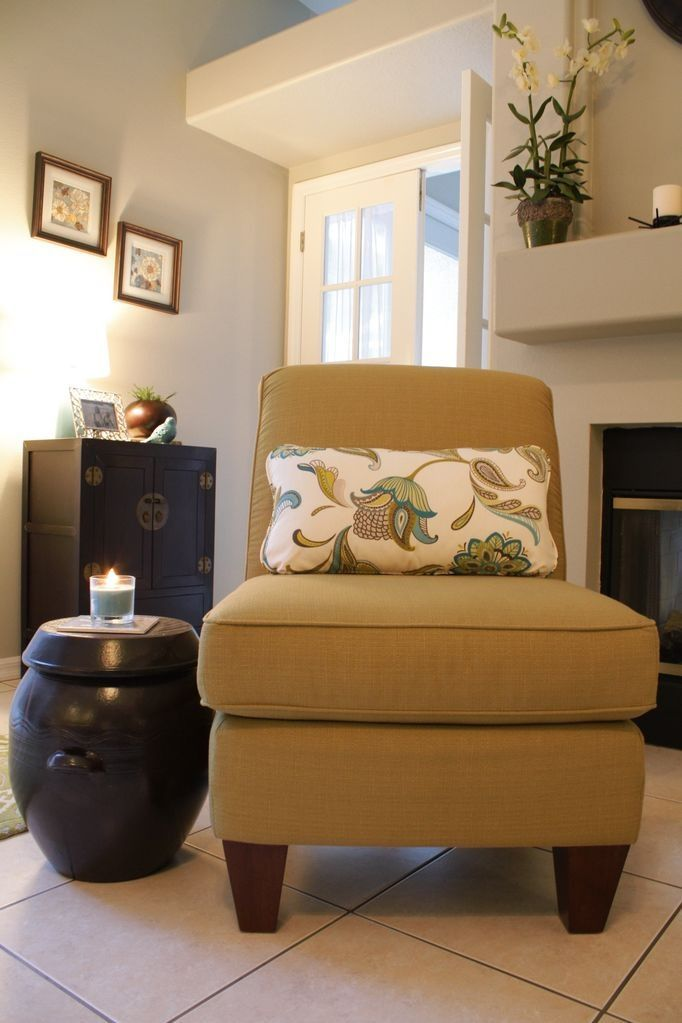 Love the chair, it's color, and the pillow fabric.
