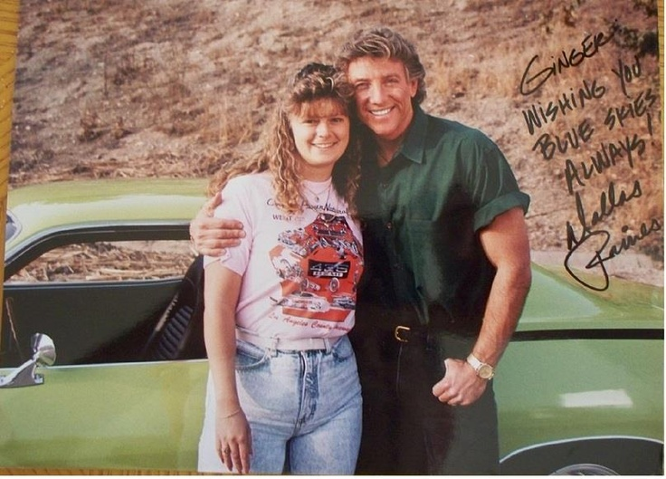 an autographed shot alongside the car with famed weatherman, Dallas ...