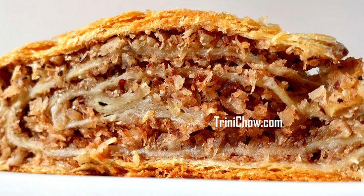 Coconut Roll, a popular pastry in Trinidad & Tobago