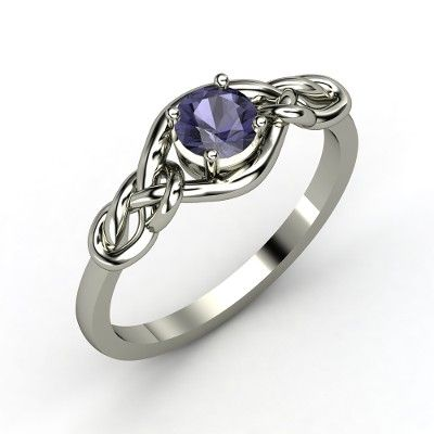 Round Iolite Sterling Silver Ring $286