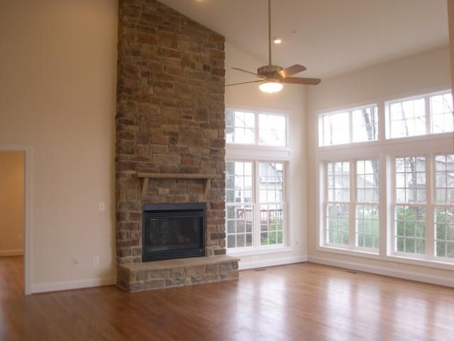 Two Story Great Room With Gas Fireplace New Living Room