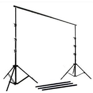 Background Support System, Black & White Muslin Backdrops and Carry