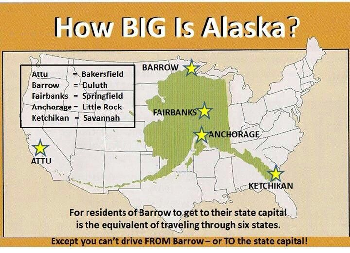 How big is Alaska | Alaska | Pinterest