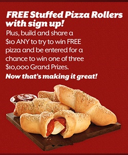 Get Free Pizza Hut Stuffed Pizza Rollers plus win | Sweepstakes