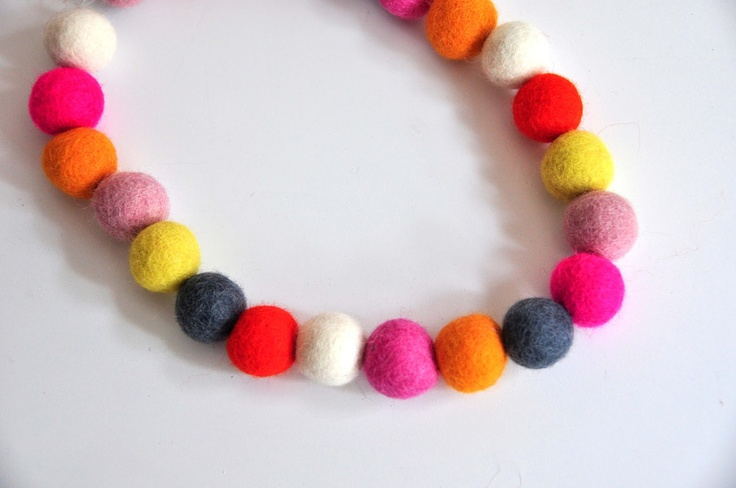 Aesthetic Nest: Craft: Wool Bead Jewelry (Tutorial)