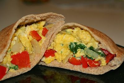 These are delicious - #healthy scrambled egg wrap #recipe