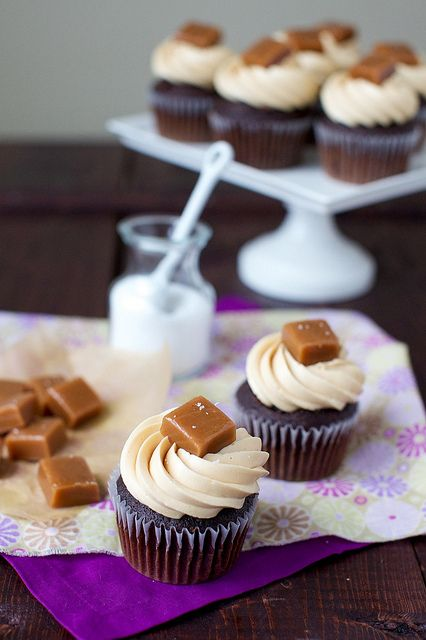 I'm in! Salted Caramel Chocolate Cupcakes