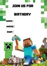 Superb image with free printable minecraft invitations