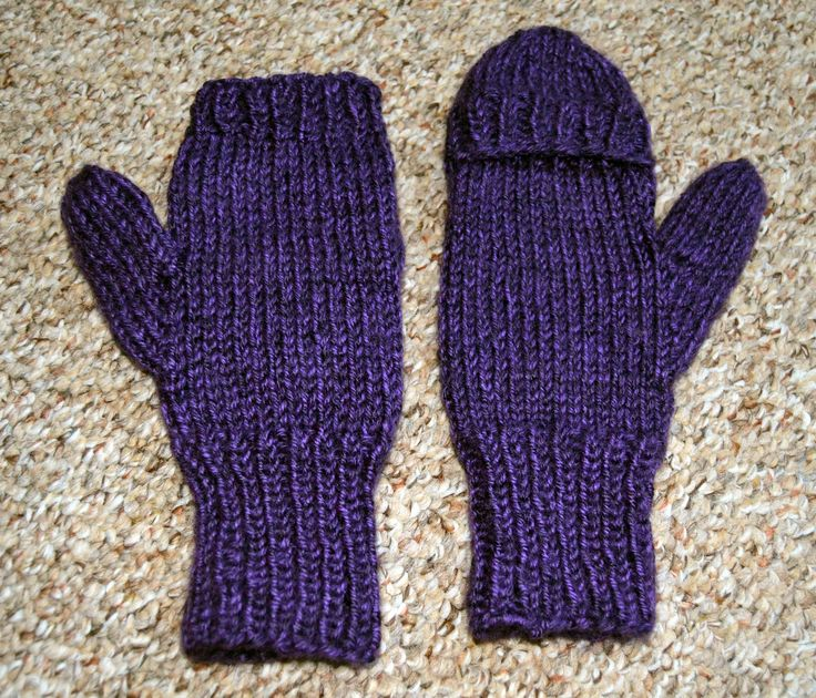 knit flip top mittens Things Ive Made Pinterest