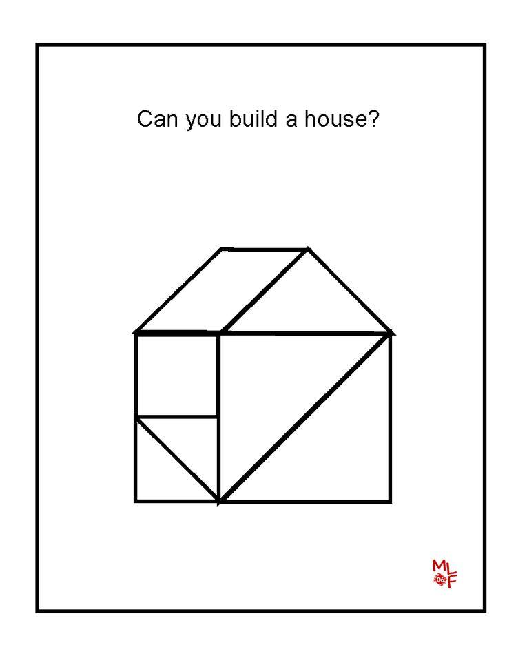 Tangram Printable House Tangrams Preschool Family Pinterest Math Pattern Blocks