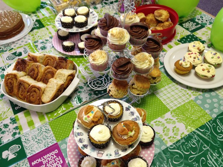 Buns on offer at our Macmillan Cancer Support coffee morning