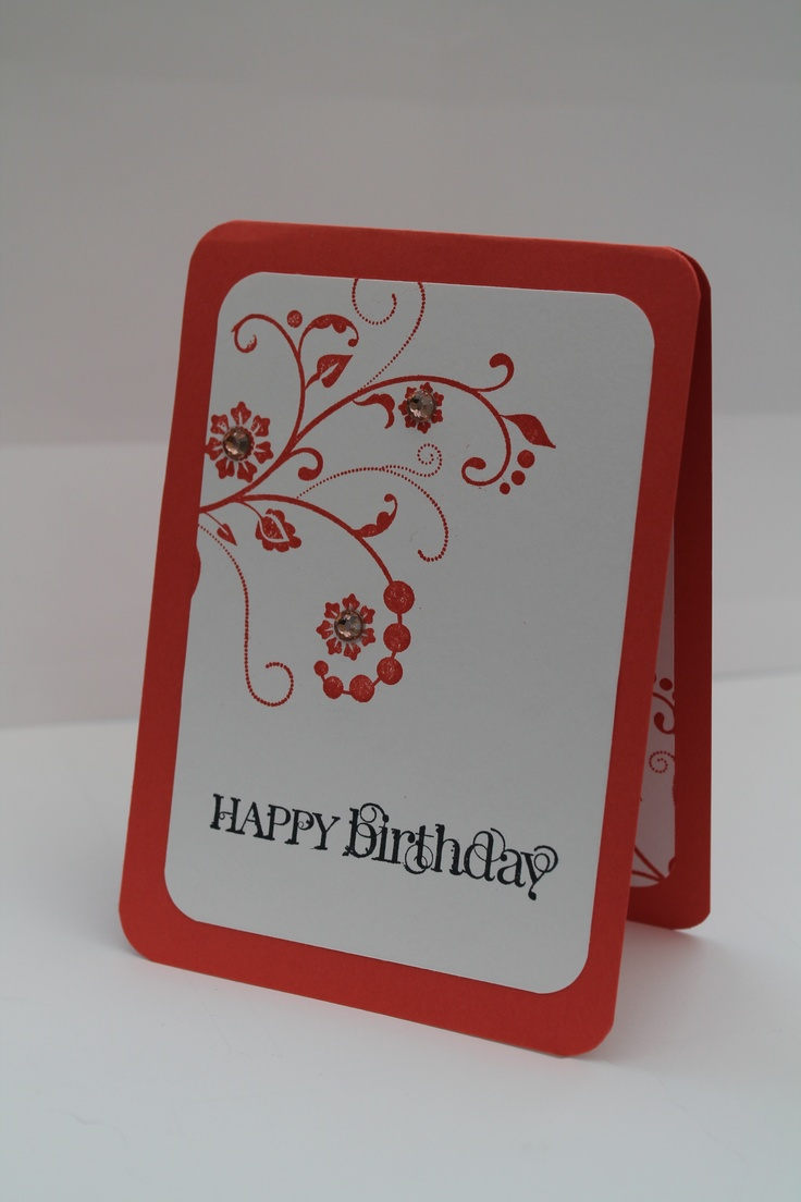 Happy birthday card stampin up cards pinterest
