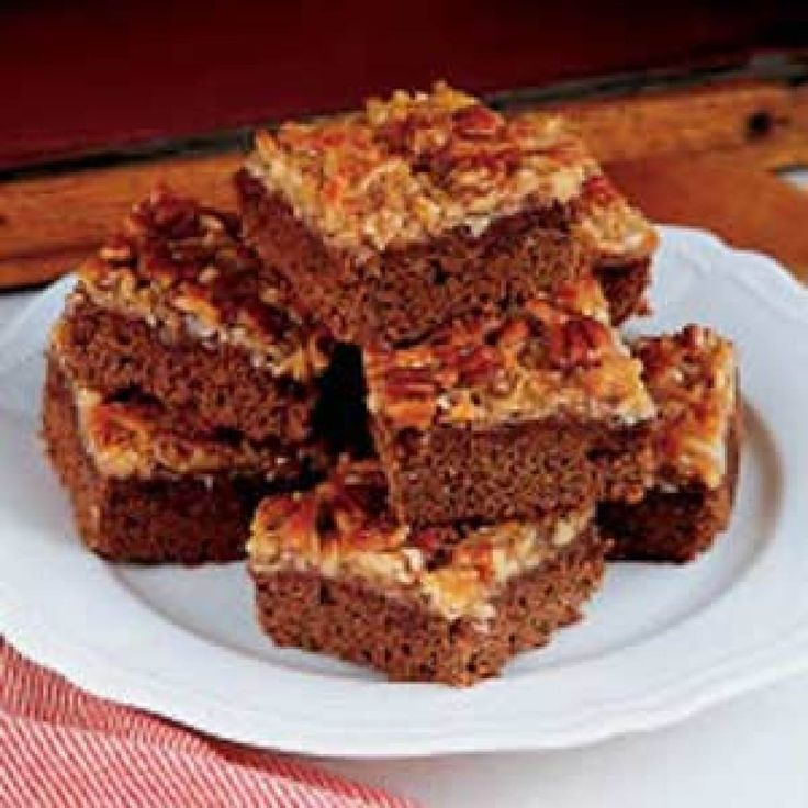 German Chocolate Brownies Recipes — Dishmaps