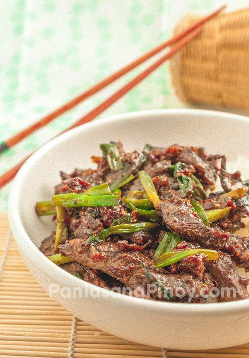 Beef stir fry with ginger | Filipino Dish | Pinterest