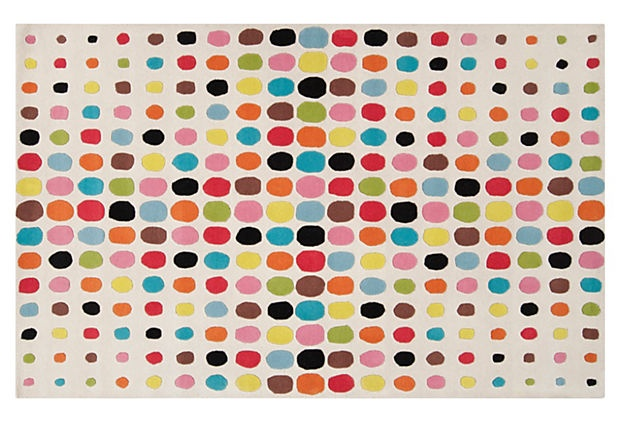Jethro Rug, Winter White/Pink on OneKingsLane.com