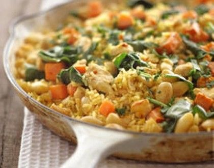 Brown rice, vegetable and chickpea pilaf | What's For Dinner? | Pinte ...