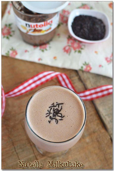 Nutella Milkshake | Beverages & Juices | Pinterest