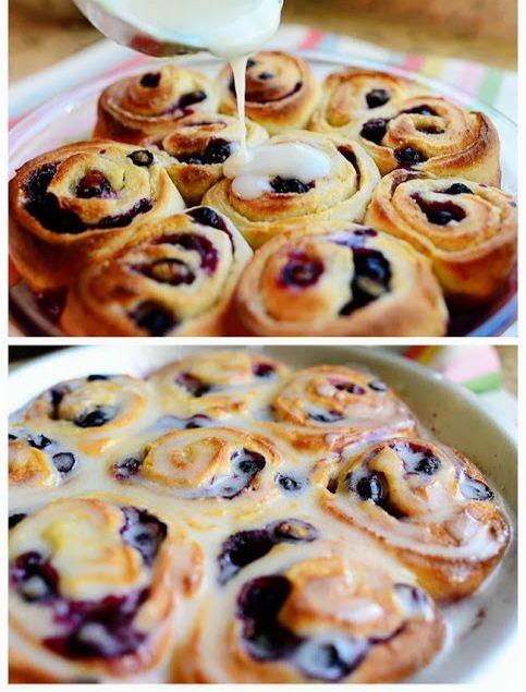 blueberry lemon sweet rolls | Breakfast | Pinterest