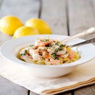Lemony Shrimp Scampi Pasta | Pasta | Pinterest