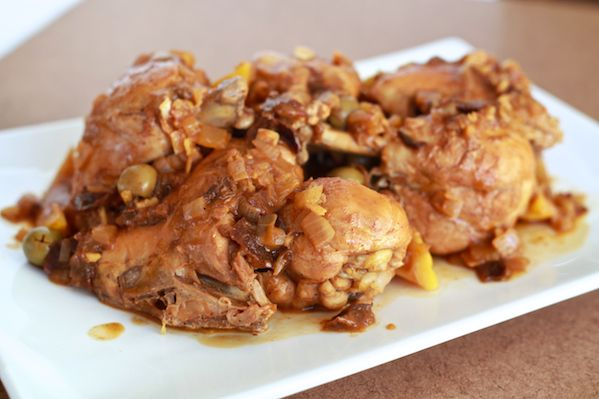 Moroccan Chicken with Lemon, Olives & Prunes | Recipe