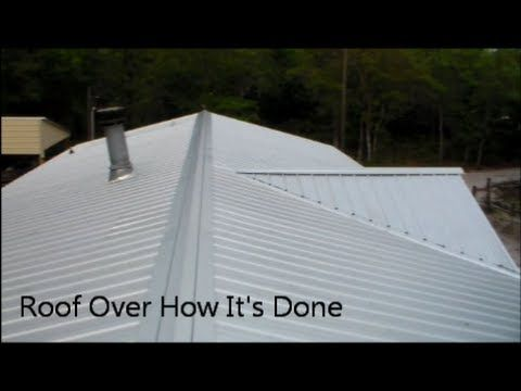 Roof repair metal roof repair diy for Roof over mobile home plans