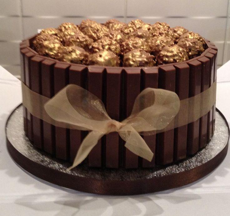 Chocolate Birthday Cakes With Ferrero Rocher