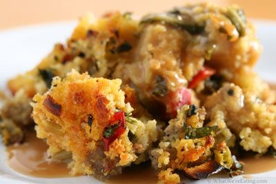 Sourdough Stuffing with Apples and Bacon. This (but with turkey bacon ...