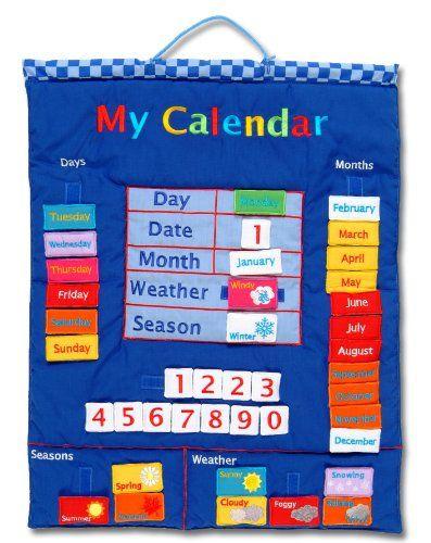 Kids Fabric Calendar Parenting Amp Kids Pinterest