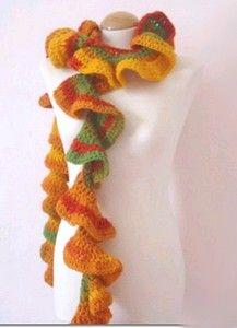 Spiral crochet scarf Knit & Crochet Pinterest