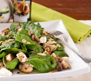 Warm Mushroom and Spinach Salad | Salads | Pinterest