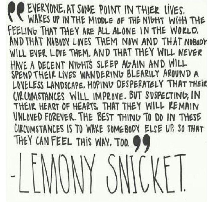 Lemony Snicket Quotes Pinterest