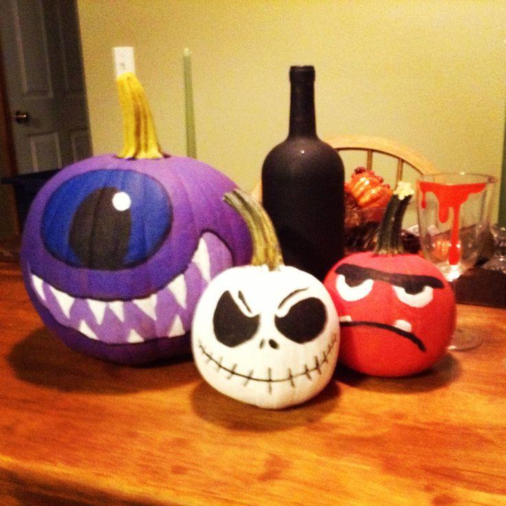 Painted Pumpkins Halloween Pinterest