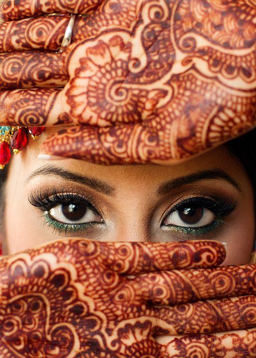 Mehndi Eye Makeup : Pin by liraz p on henna prints inspiration pinterest