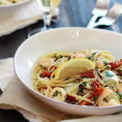 ... Shrimp Scampi with Tomatoes and Artichokes) and a Le Creuset giveaway