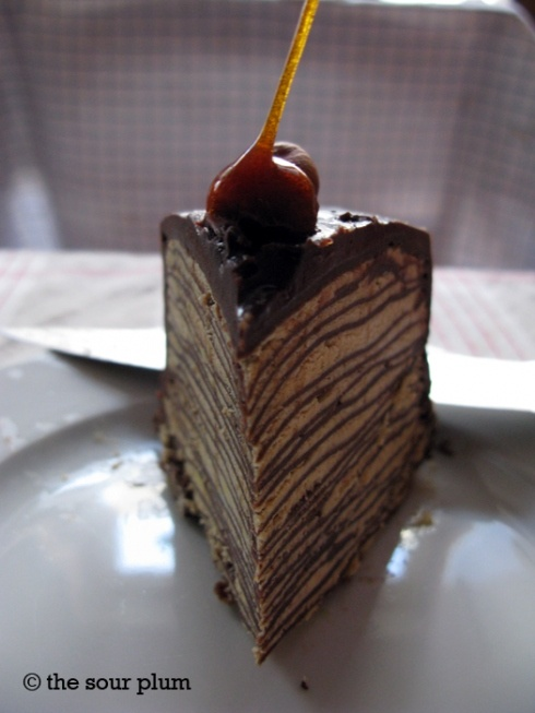 darkest chocolate crepe cake | just desserts ... chocolate | Pint ...