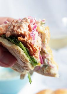 Salmon Burger with Dill/Caper Tartar Sauce and Red Onion Ceviche - I ...