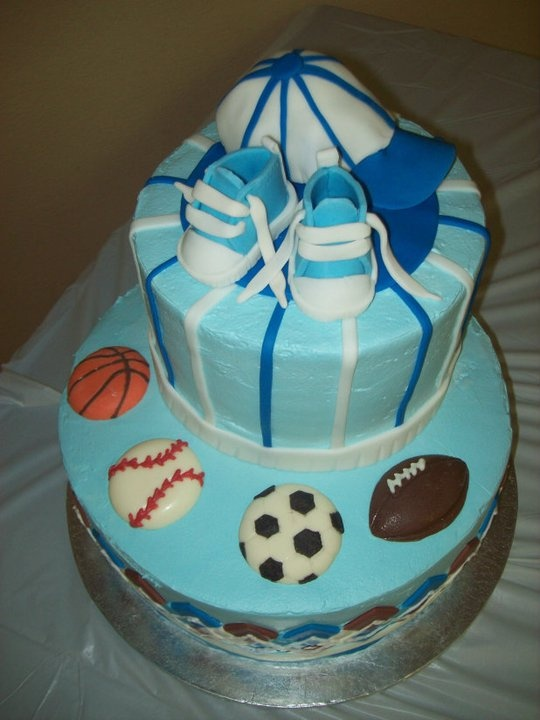 baby shower cake all star sports theme all sports baby shower ideas