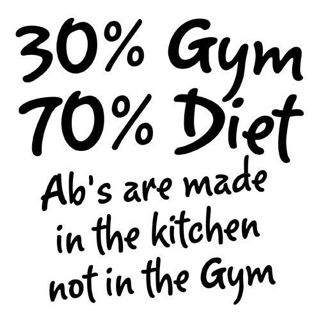 My favorite quote about abs EVER because it is so true. (Don't mind the spelling error.)