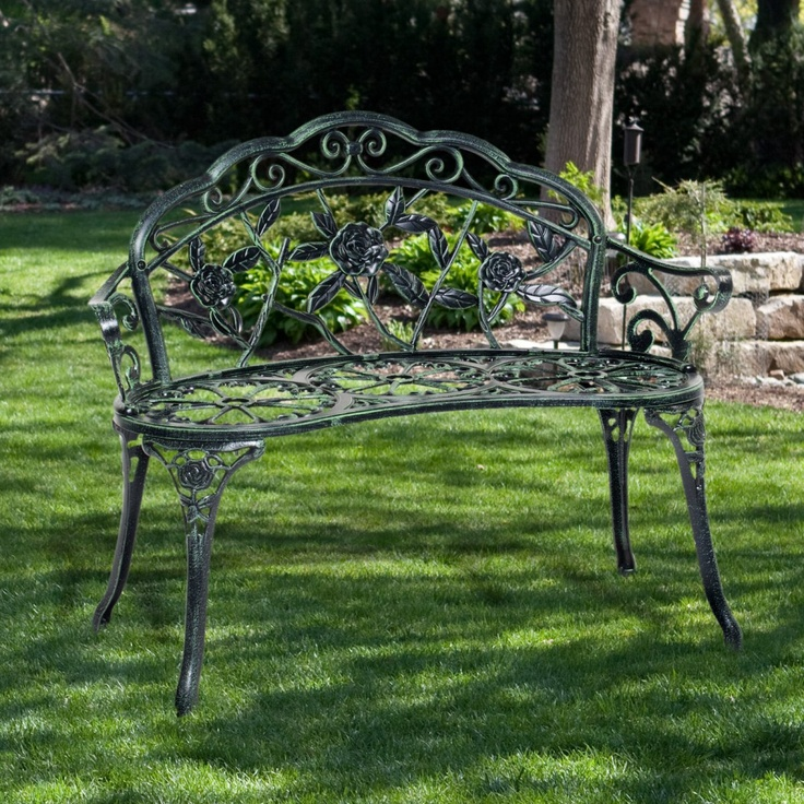 Rose cast aluminum curved loveseat bench www