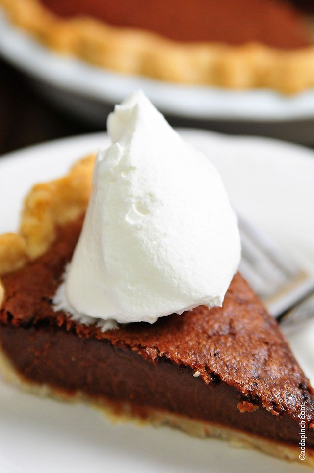 Chocolate Chess Pie Recipe - Cooking | Add a Pinch | Robyn Stone