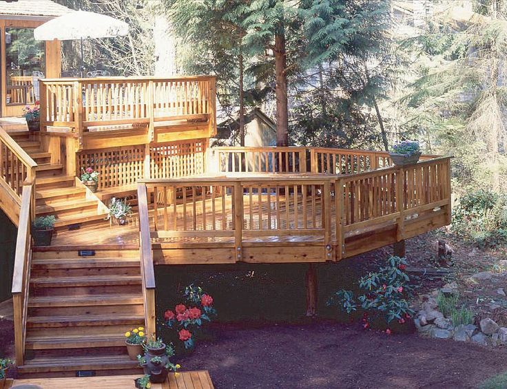 tiered deck for the home pinterest