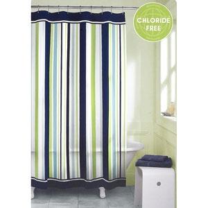 party stripe vinyl shower curtain little boy 39 s room