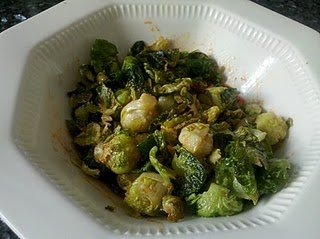Crispy Fried Brussel Sprouts with Honey and Sriracha