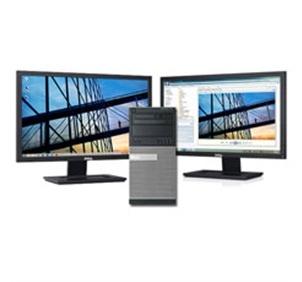 """Dell Optiplex Quad-core Desktop w/ Two 21.5"""" Dell LCD Monitors - $749.00"""
