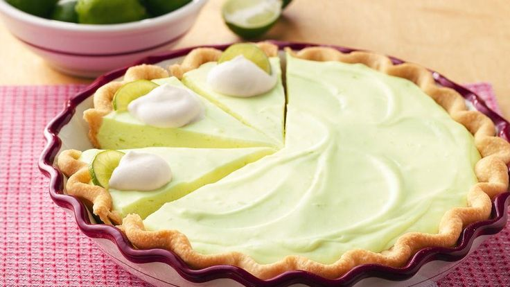 Key Lime Cheesecake Pie - Give each bite of velvety cheesecake a ...
